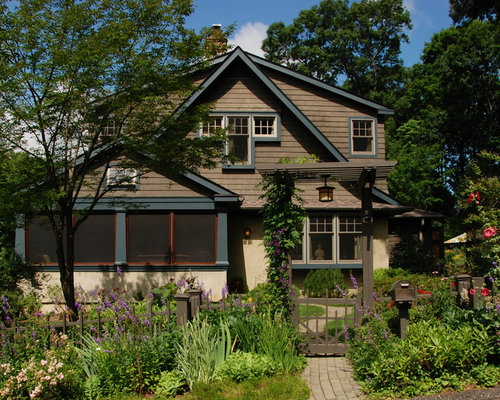 Inspiration For A Craftsman Brown Two Story Wood Exterior Home Remodel In  New York