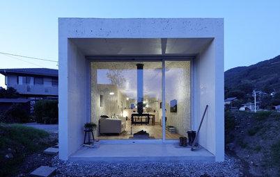 Houzzツアー:居心地のよい巣(ネスト)のような日本のミニマリスト住宅