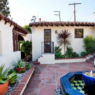 Fountain And Succulents Houzz