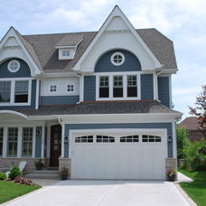 Transitional Exterior by Coora Construction Inc