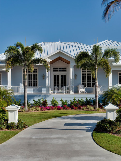 Old naples custom built old florida beach house for Custom beach house