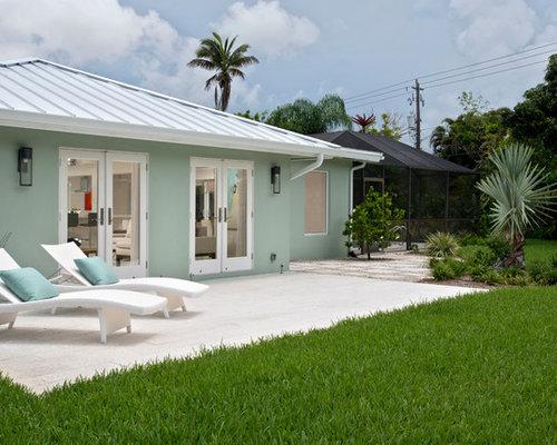 Green Stucco Exterior Design Ideas Renovations Amp Photos