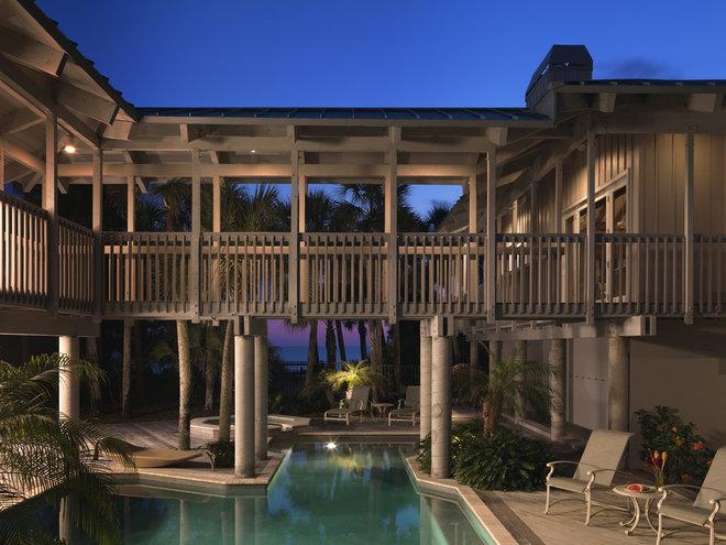 Tropical Exterior by BCB Homes, Inc.