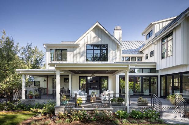 Farmhouse Exterior by Larsen Development Company