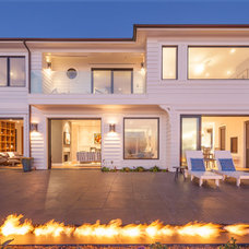 Beach Style Exterior by Hill Construction Company