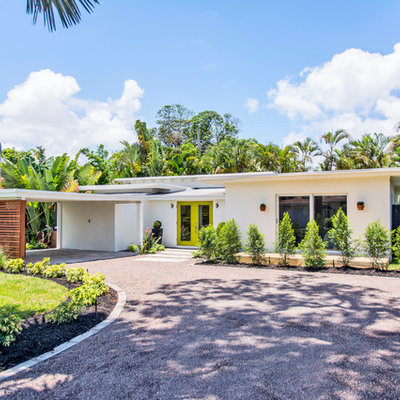 1960s one-story flat roof idea in Miami