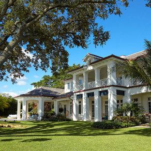 Mediterranean exterior home idea in Miami