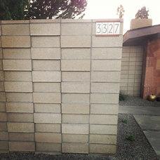Modern Exterior Neutra house numbers courtesy of Heath Ceramics