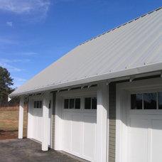 Farmhouse Exterior by Motionspace Architecture + Design