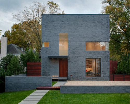 Grey brick houses houzz - Exterior paint removal from brick minimalist ...