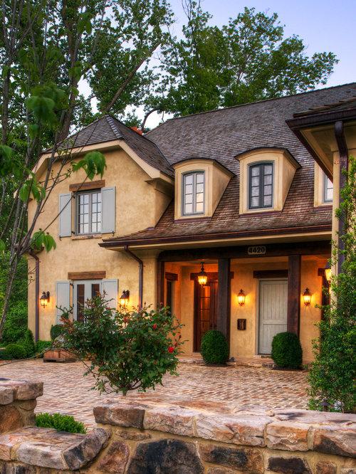 yellow stucco exterior design ideas renovations photos