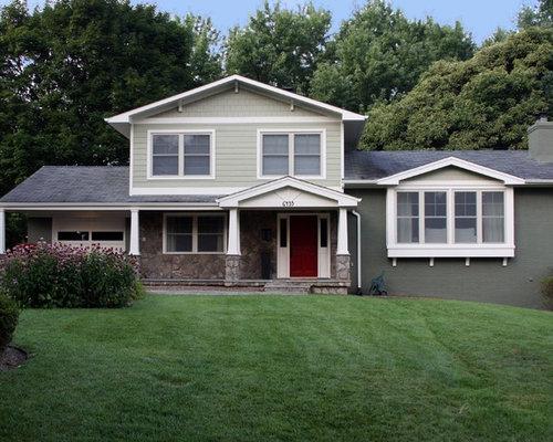 Craftsman house paint color split level exterior design for Craftsman style split level homes