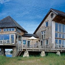 Beach Style Exterior by Habitat Post & Beam, Inc.