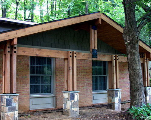 Pineridge post beam porch for Open beam front porch