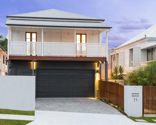 Queenslander Cottage Two Storey Exterior Design Ideas