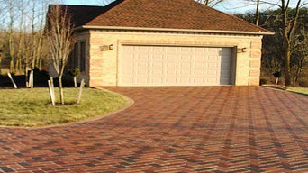 New garage with Imprinted Asphalt