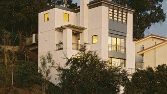 New hillside home