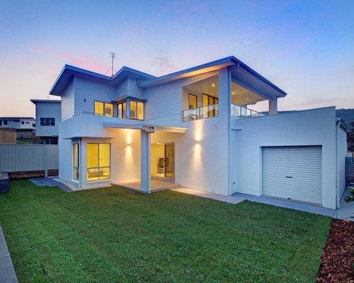 Beach style adelaide exterior design ideas renovations for Beach house designs adelaide
