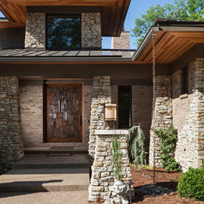 Transitional Exterior by High Pointe Custom Homes LLC