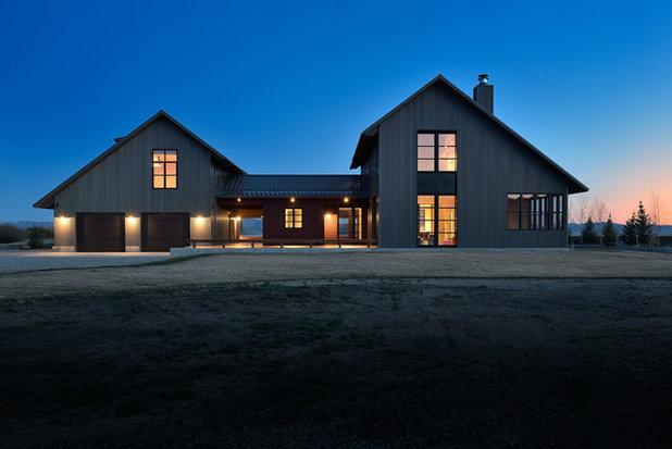 Farmhouse Exterior by Koch Architects, Inc.  Joanne Koch