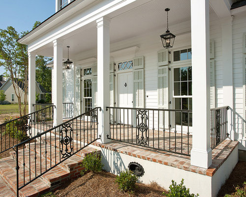 Traditional new orleans exterior design ideas remodels - Front porch designs for brick homes ...