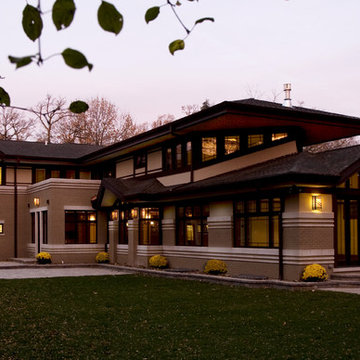 New Praire Style Residence - River Forest, IL - Rear