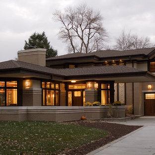 На фото: дом в восточном стиле
