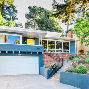 1960s blue exterior home idea in San Francisco