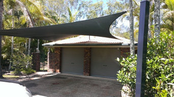 New shade sail over carport