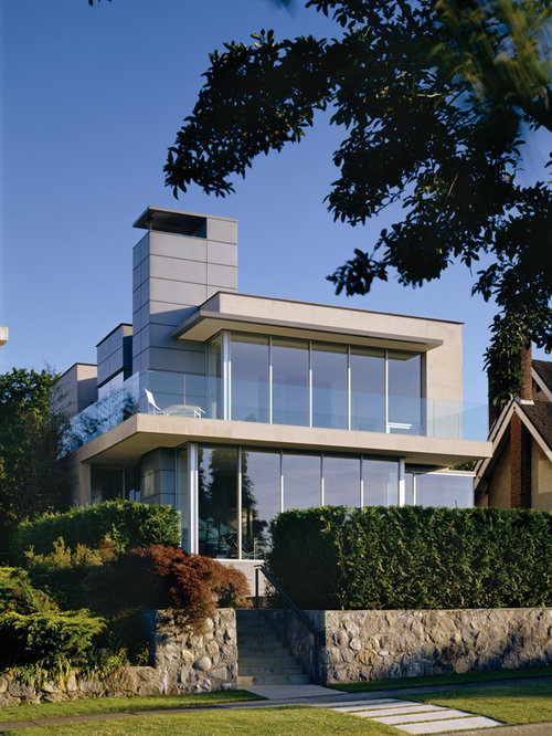 Modern Two Story Glass Exterior Home Idea In Vancouver