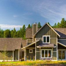 Farmhouse Exterior by Bear Mountain Builders