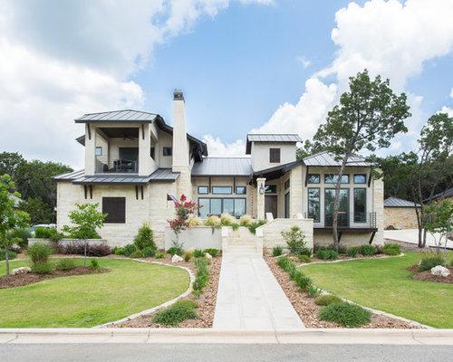White Stone Exterior stone exterior home ideas & design photos | houzz
