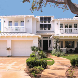 Island style two-story exterior home photo in Orange County