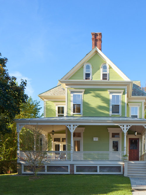 This is an example of a large victorian exterior in other with three - Exterior House Color Combinations Ideas Pictures Remodel