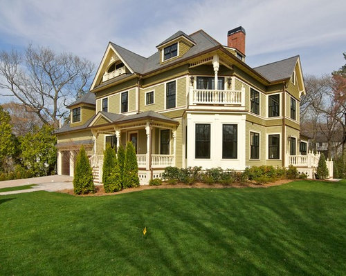 10 Best Green Exterior Home Ideas & Remodeling Photos   Houzz