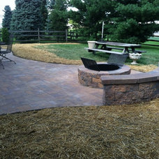 Traditional Exterior by Ryan's Landscaping Hanover, Pa Patios & Walls