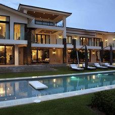 Contemporary Exterior by Charlotte Dunagan Design Group
