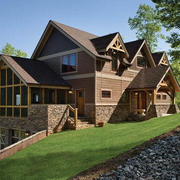 North Carolina Timber Frame Home - Exterior