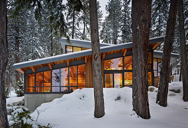 Rustic Exterior by DeForest Architects