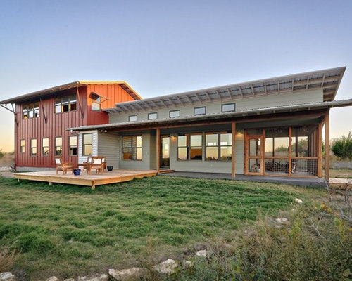 Metal building houzz for Rustic home plans with cost to build