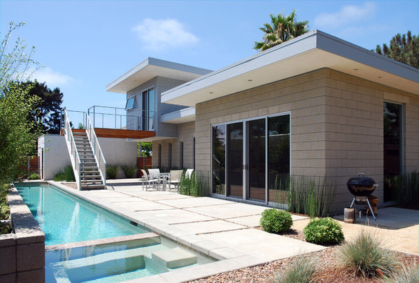 Midcentury Exterior by JLC Architecture