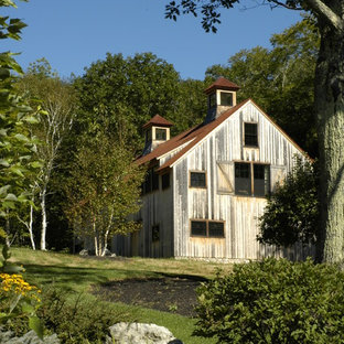 Inspiration for a large cottage exterior home remodel in Boston