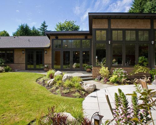 Modern cedar siding home design ideas pictures remodel for Modern cedar homes