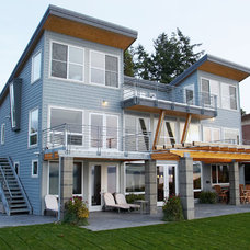Beach Style Exterior by Dan Nelson, Designs Northwest Architects
