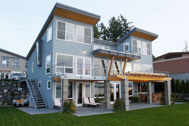 Beach Style Exterior By Dan Nelson Designs Northwest