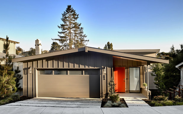 Midcentury Exterior by Knock Architecture and Design