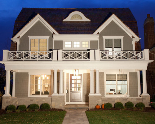 Ethereal mood houzz for Residential exterior paint color design