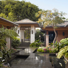 Tropical Exterior by Applegate Tran Interiors
