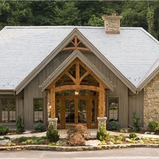 Traditional Exterior by Woodhouse Post & Beam Homes