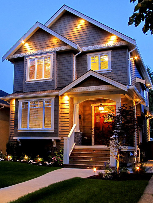 Lights in gables home design ideas pictures remodel and Exterior accent lighting for home